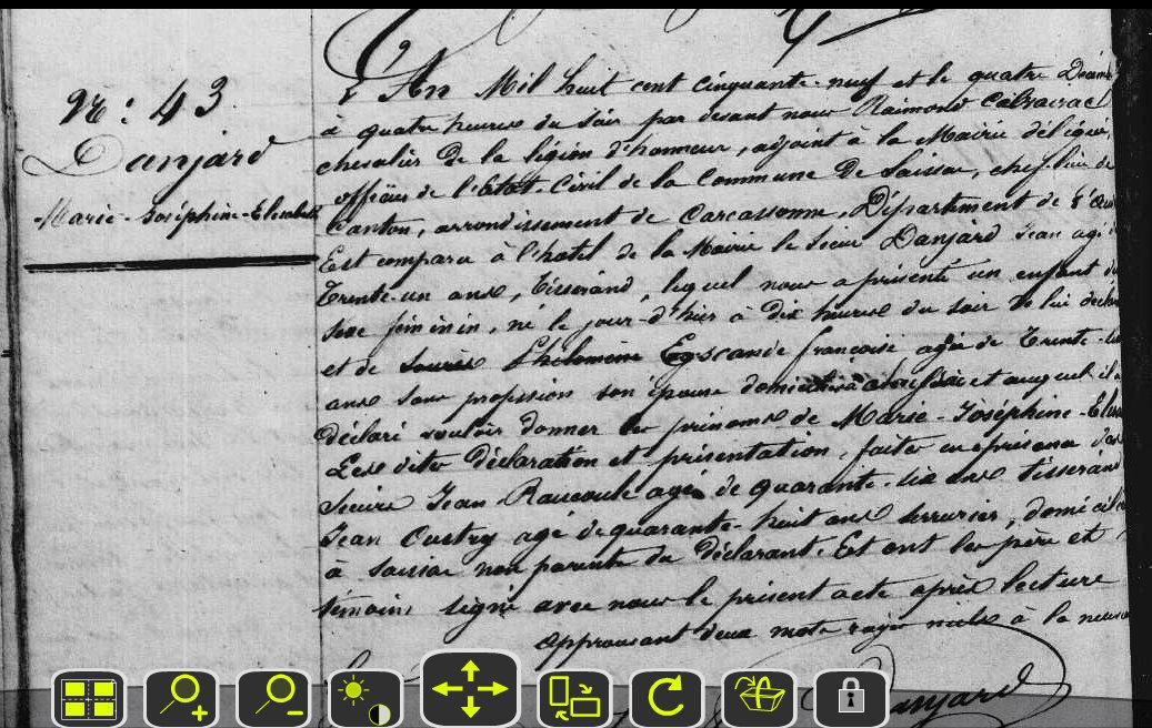 An danjard elisa 1859