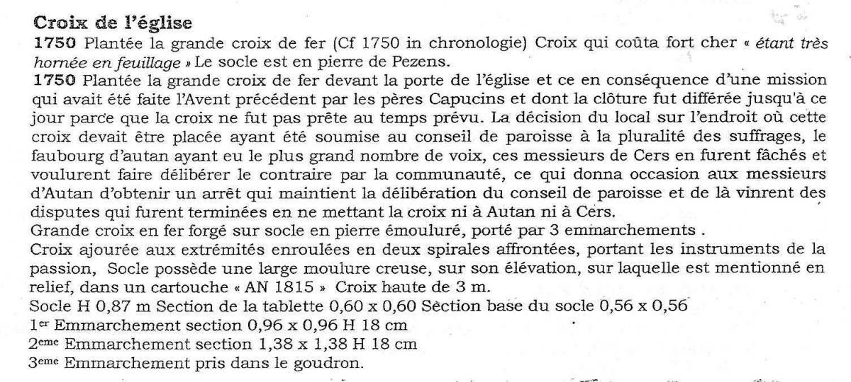 Croix eglise