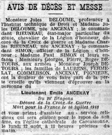 Express du midi 10 aout 1918