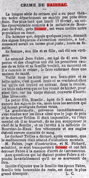 Journal la fraternite du 22 fevrier 1880