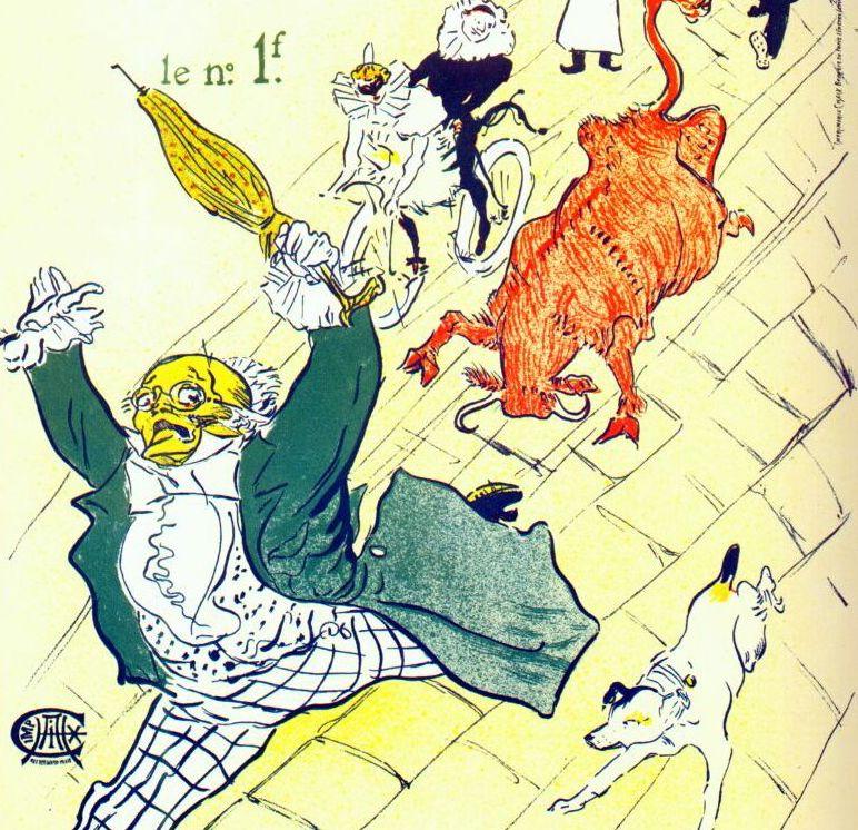Lautrec la vache enragee the mad cow 1896