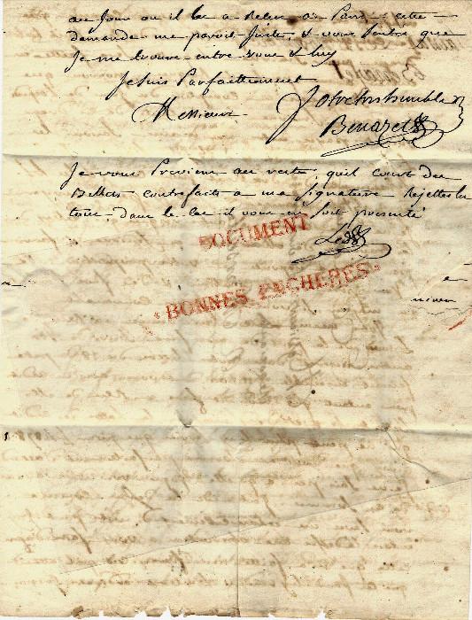 Lettre comm par benazet negociant a saissac pour roux freres armateurs marseille 1771 3