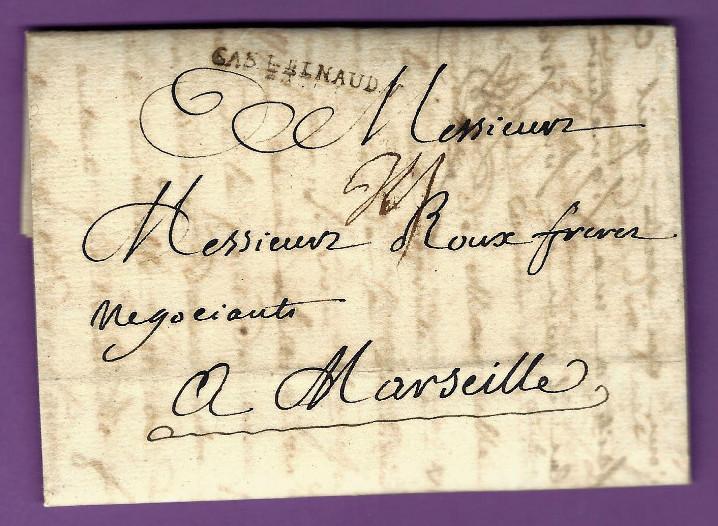 Lettre comm par benazet negociant a saissac pour roux freres armateurs marseille 1771 4