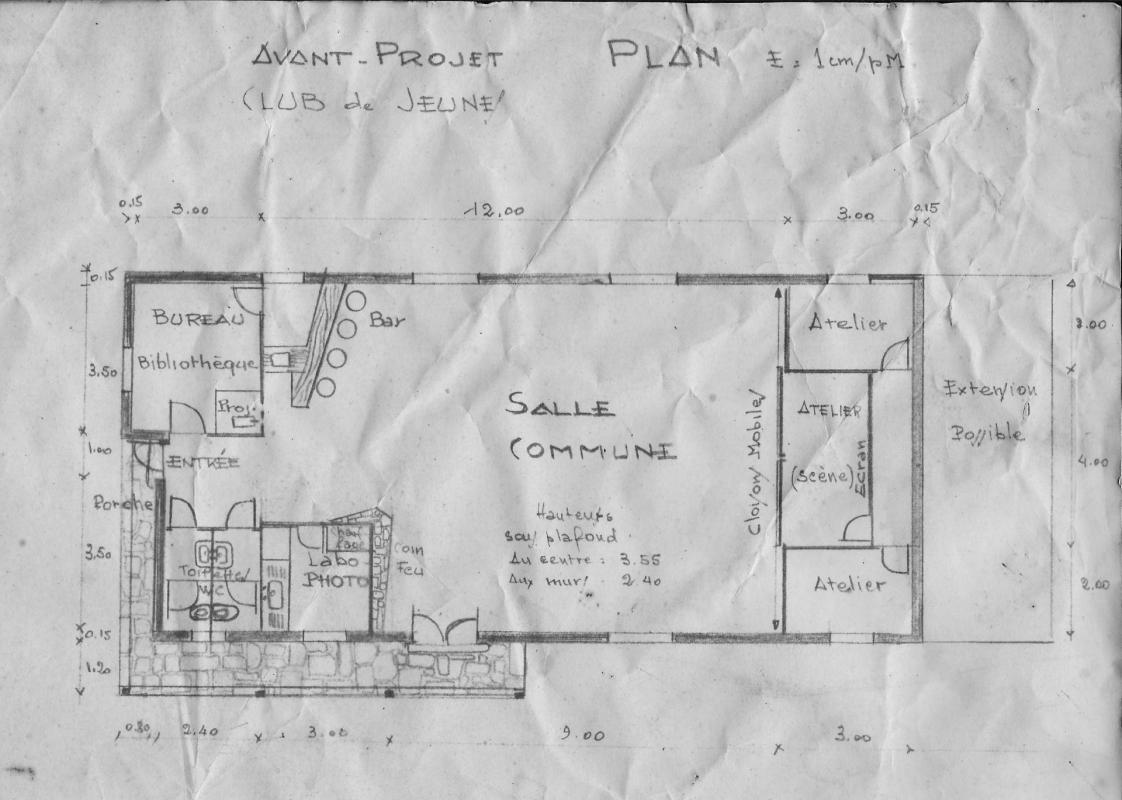 Plan avant projet 1968